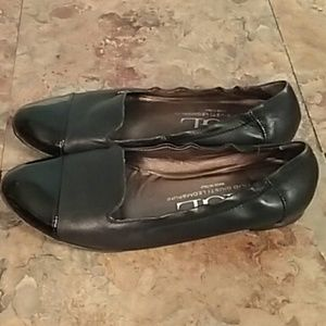 AGL black leather flats Italy size 9